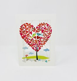 Shadywood Designs Heart tree of Leaves  Cut out