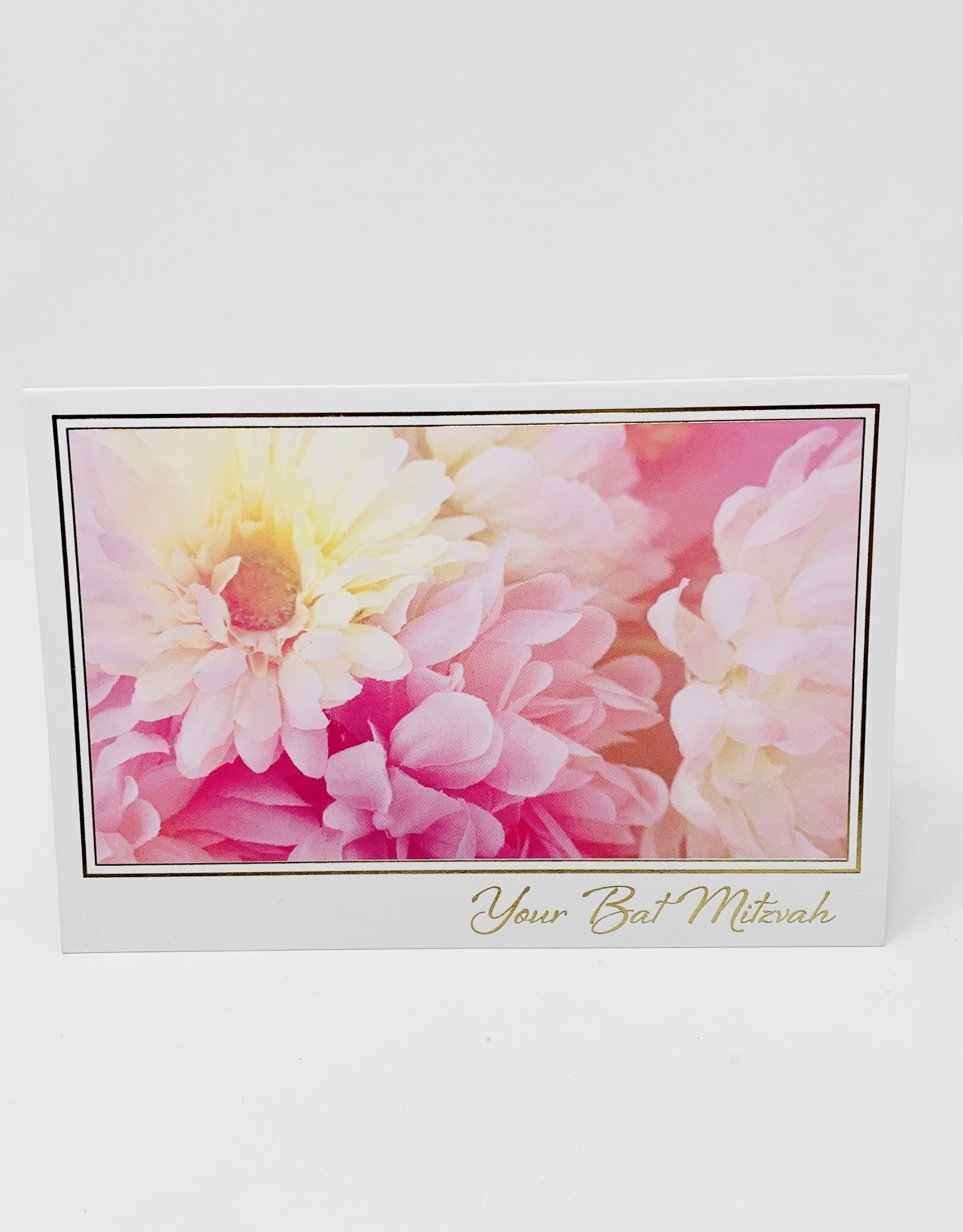 Pictura Pink Flowers/Gold Border