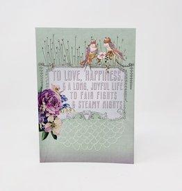 Papaya Wedding wish card