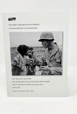 Borealis Press Soldier feeding child