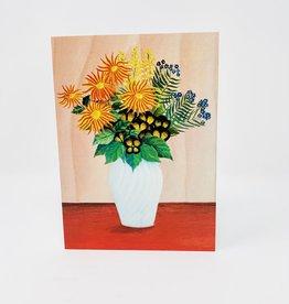 Notes & Queries Boquet of flowers in white vase