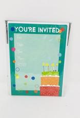 Gina B Designs Multi color cake Invite