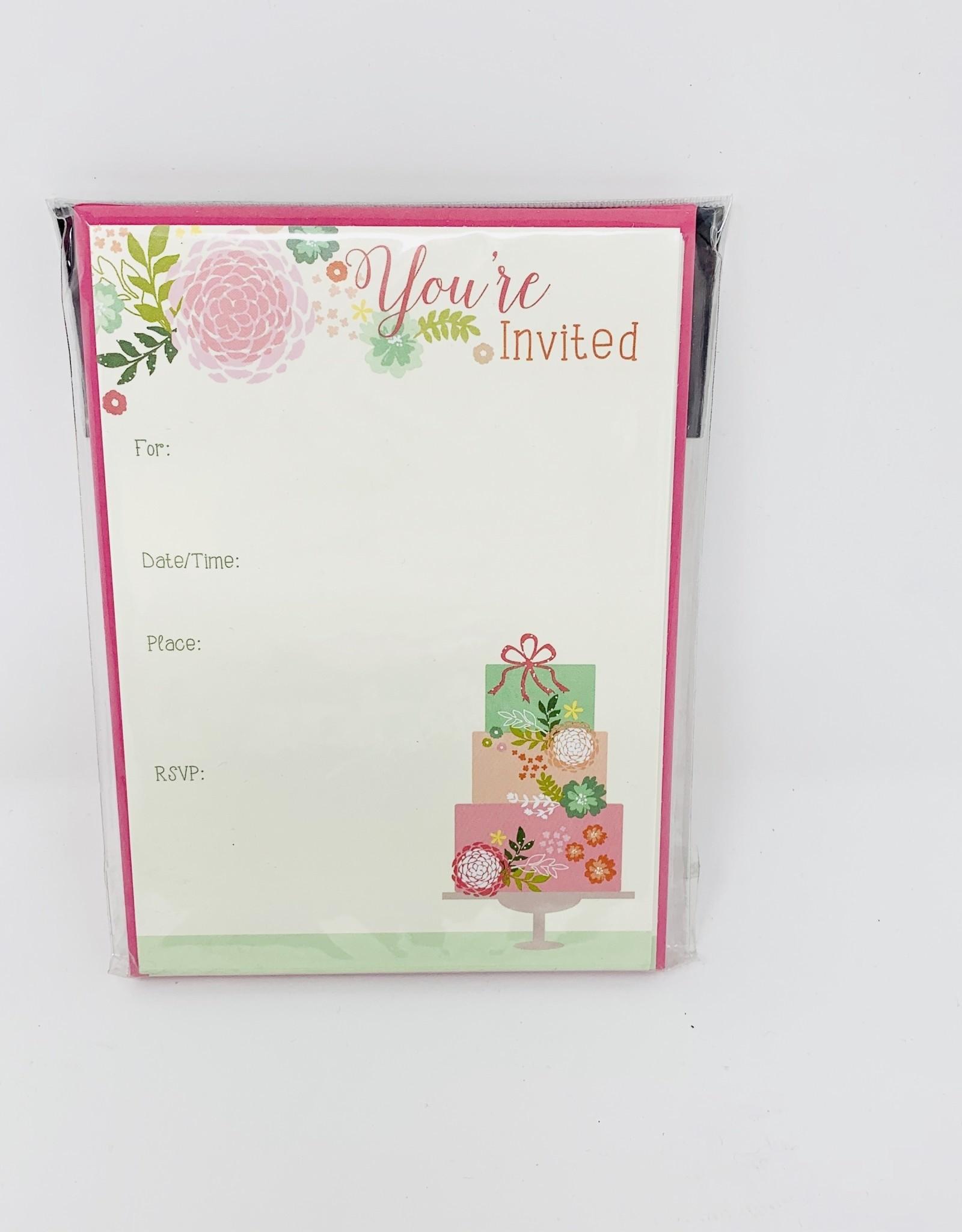 Gina B Designs Pink Cake Invite