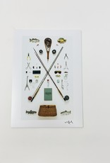 Field Guide Fly fisherman Print