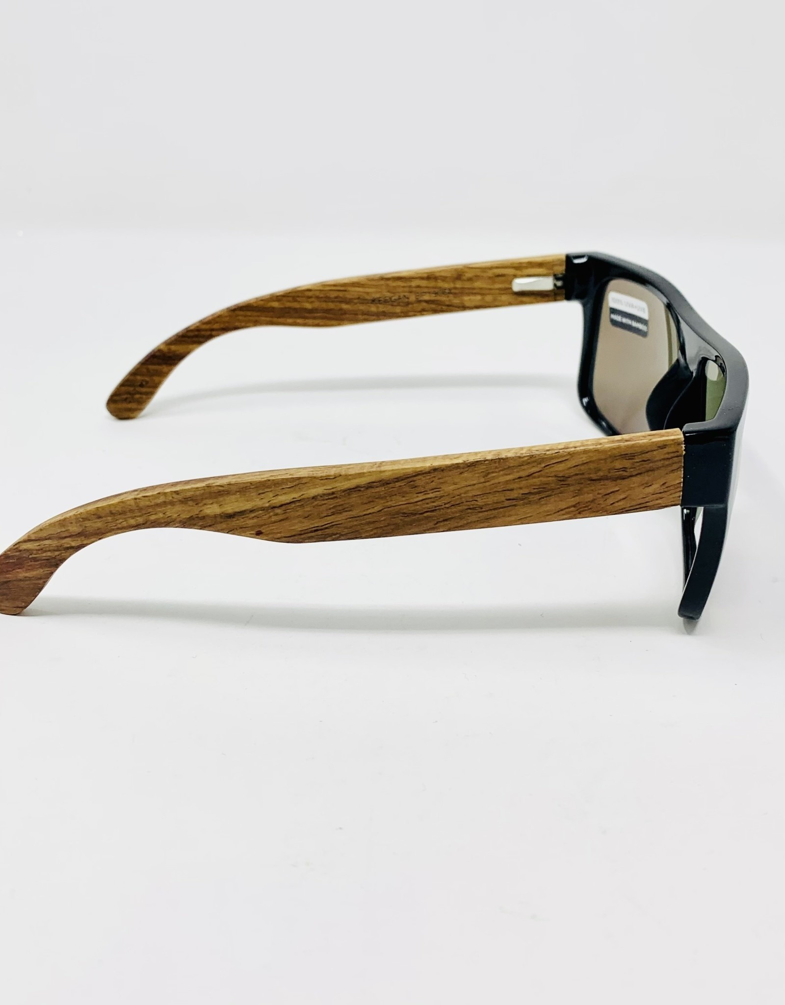 Blue Planet Eyewear Keegan- Black/bamboo Sunglasses