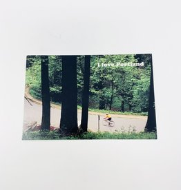 Jason Savage Biker Portland Postcard
