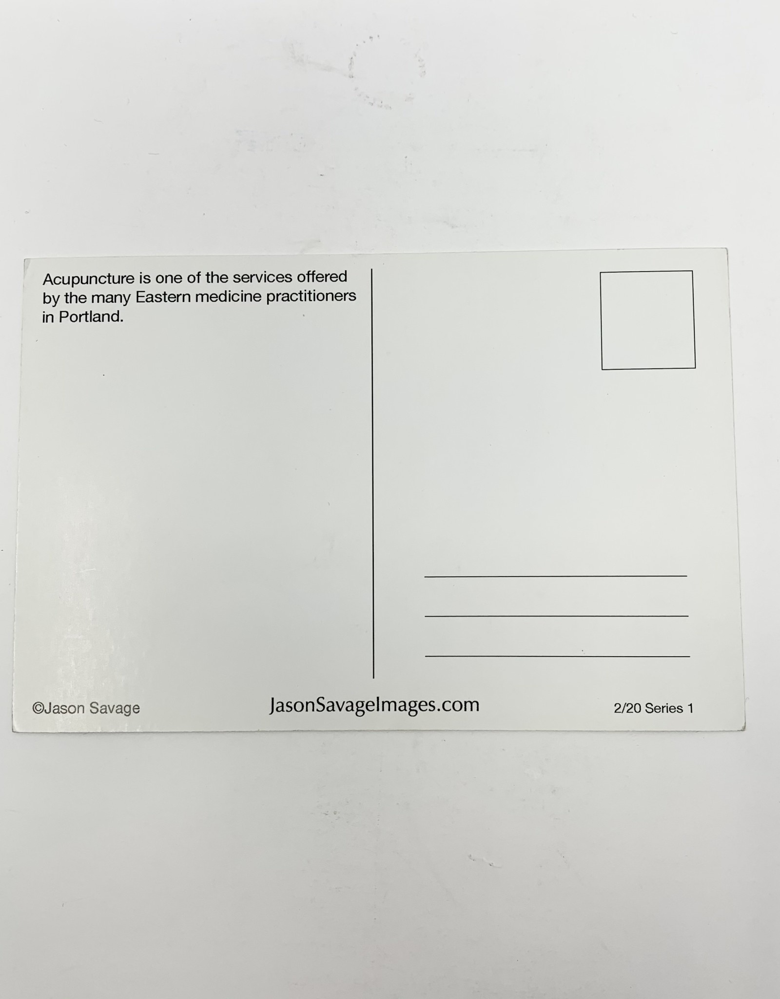 Jason Savage Acupuncture Portland Postcard