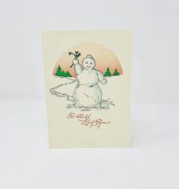 Saturn Press Old Time Snowman