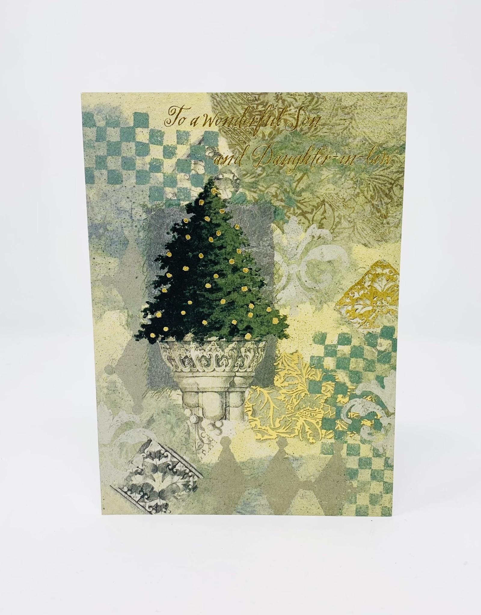 Design Design Christmas tree on a roman stand