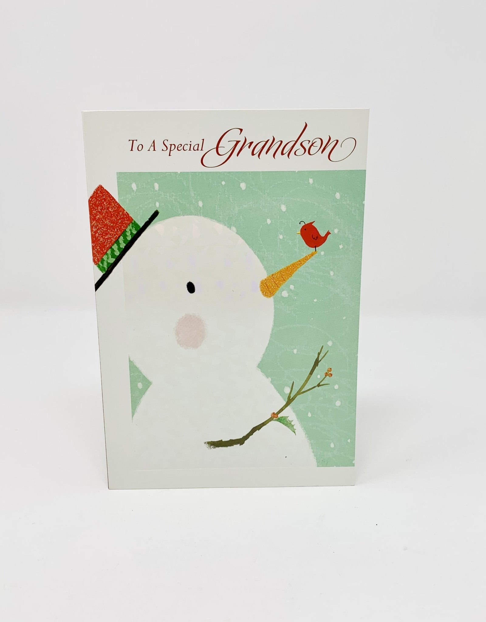 Pictura Grandson snowman and bird