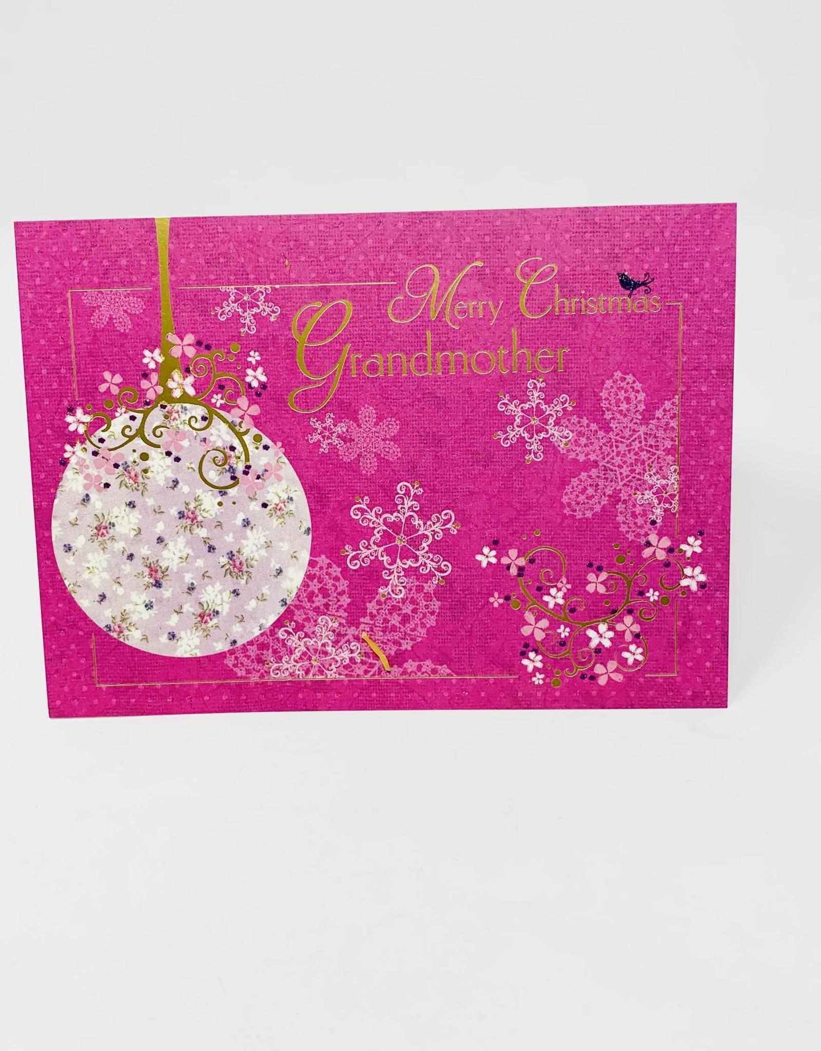 Design Design Grandmother Floral Pink Ornament