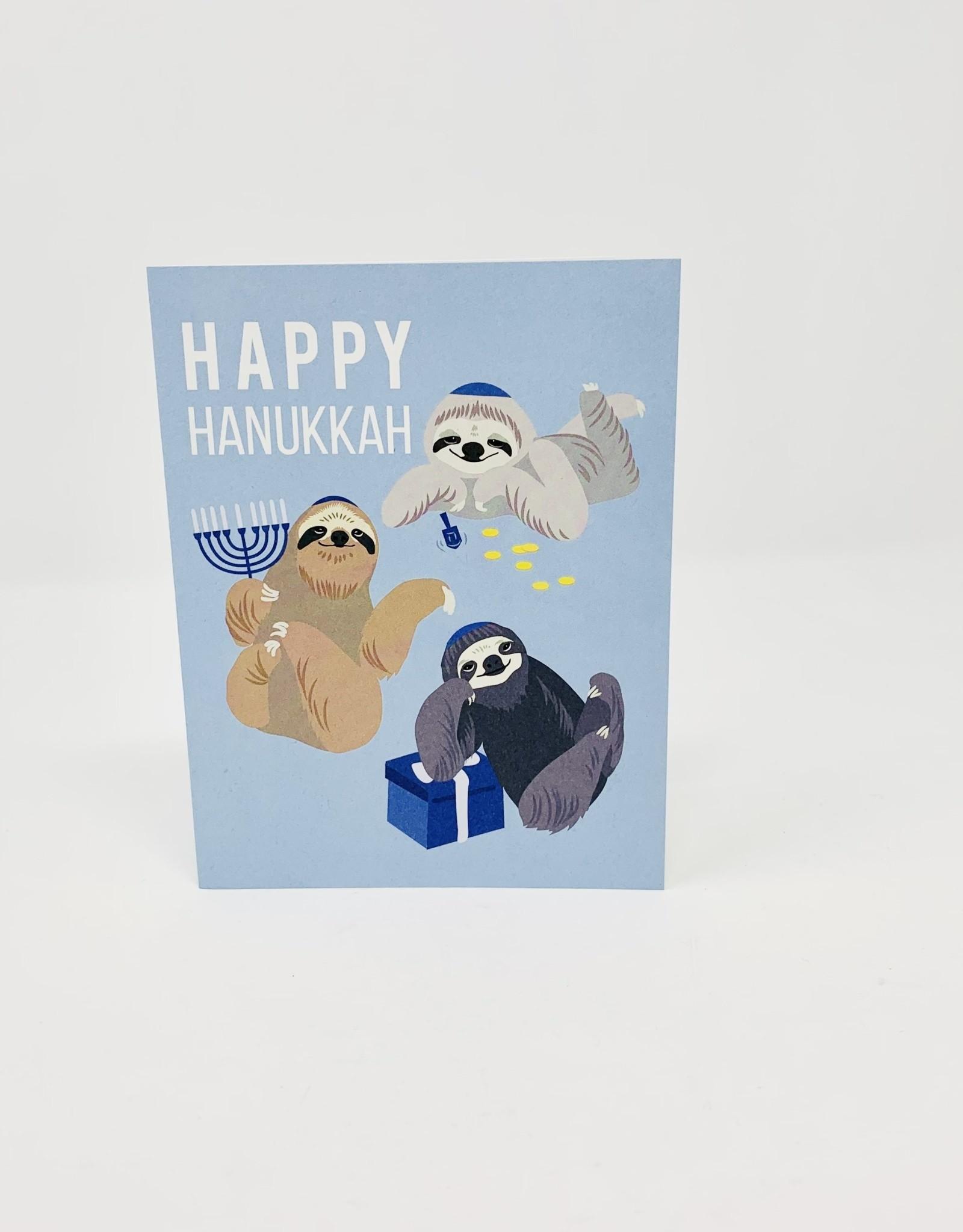Waste Not Paper Hanukkah Sloths