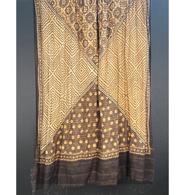 Sufiyan Amida Shawl Brown Geometric