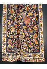 Dwaraka Hand Painted Silk Chiffon Shawl Black Multi