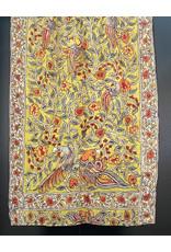Dwaraka Hand Painted Silk Chiffon Shawl Olive
