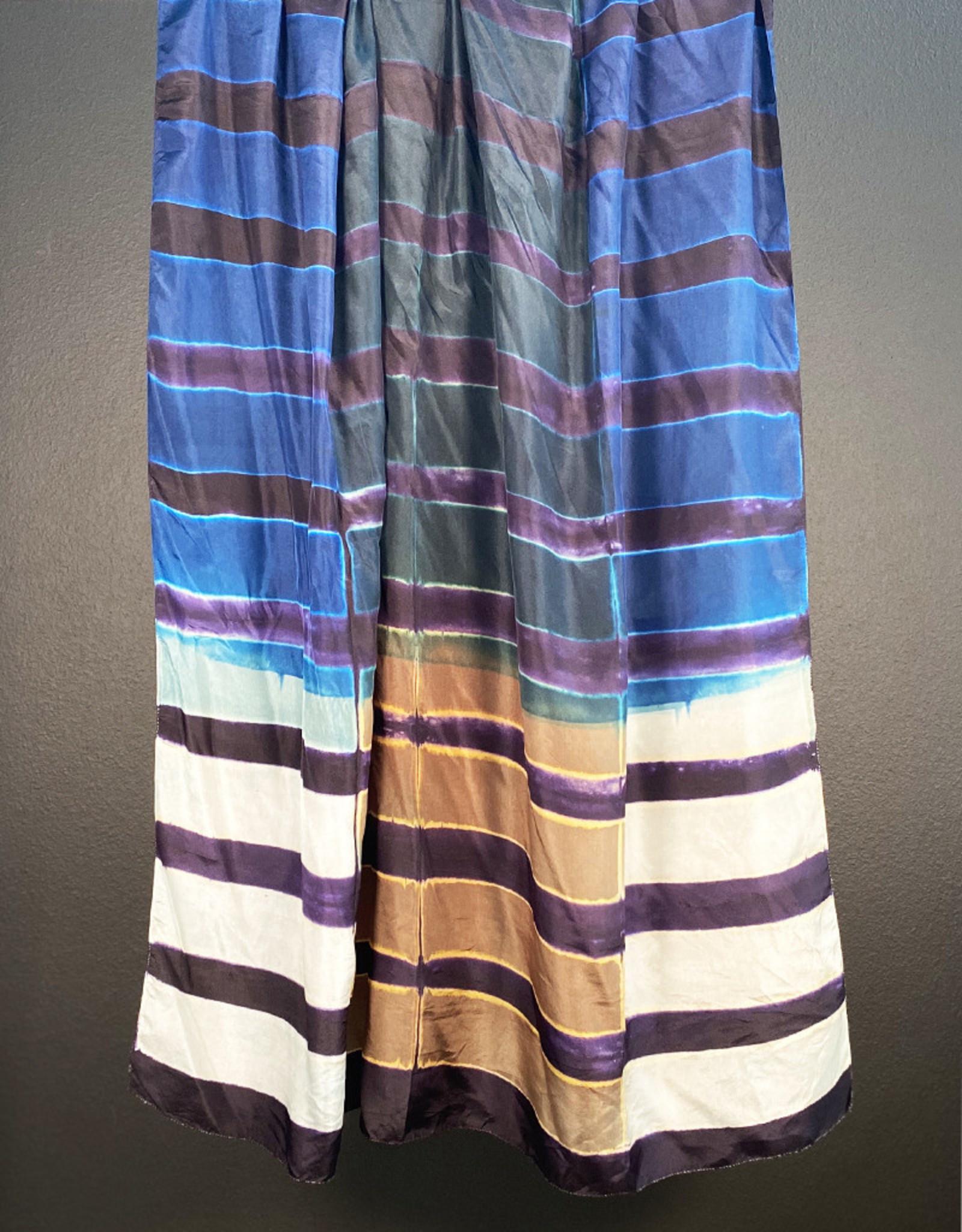 Sidr Craft Mahira Shawl Aubergine Stripes