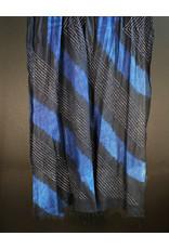 Sidr Craft Sidra Shawl Black and Indigo Diagonal