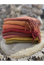 Haridra Handwoven Natural Dye Matka Silk Scarf Olive