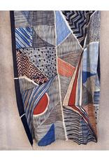 Haridra Hand Painted Natural Color Cotton Shawl Abstract 3