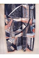Haridra Hand Painted  Cotton Shawl Abstract 5