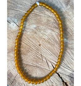 "Cedi Handmade Korli Bead Strand Amber 1/2"""