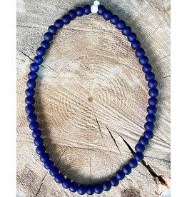 "Cedi Handmade Korli Bead Strand Blue 1/2"""