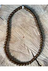 """Cedi Handmade Korli Bead Strand Brown 1/2"""""""