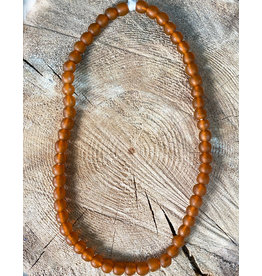 Cedi Handmade Transparent Bead Strand Burnt Orange 1/2""