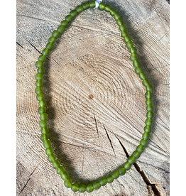 """Cedi Handmade Korli Bead Strand Green 3/8"""""""