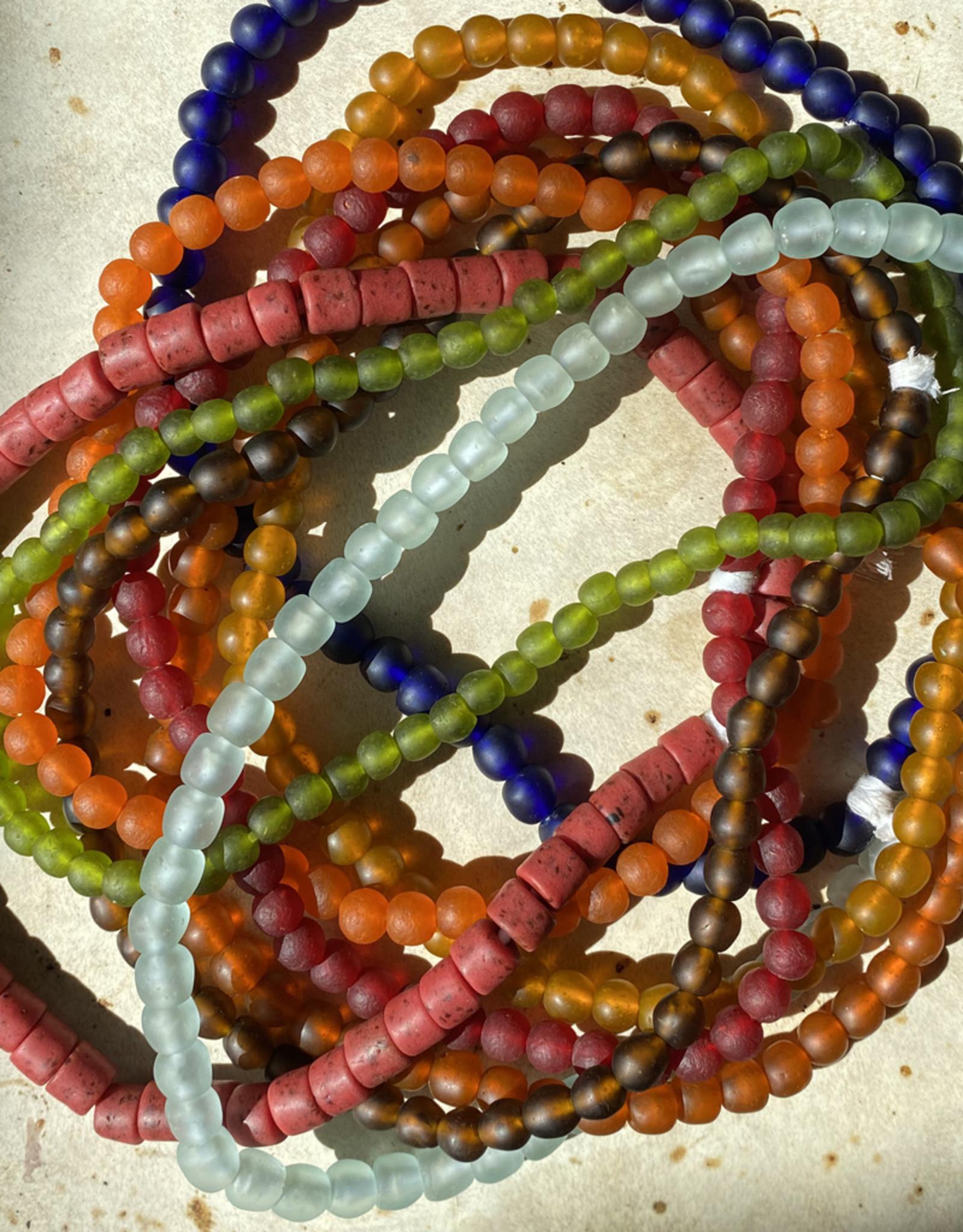 """Cedi Handmade Korli Bead Strand Orange 1/2"""""""