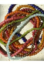 """Cedi Handmade Korli Bead Strand Clear 3/8"""""""