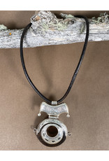 Timidwa Tuareg Ebony Circle Pendant Necklace