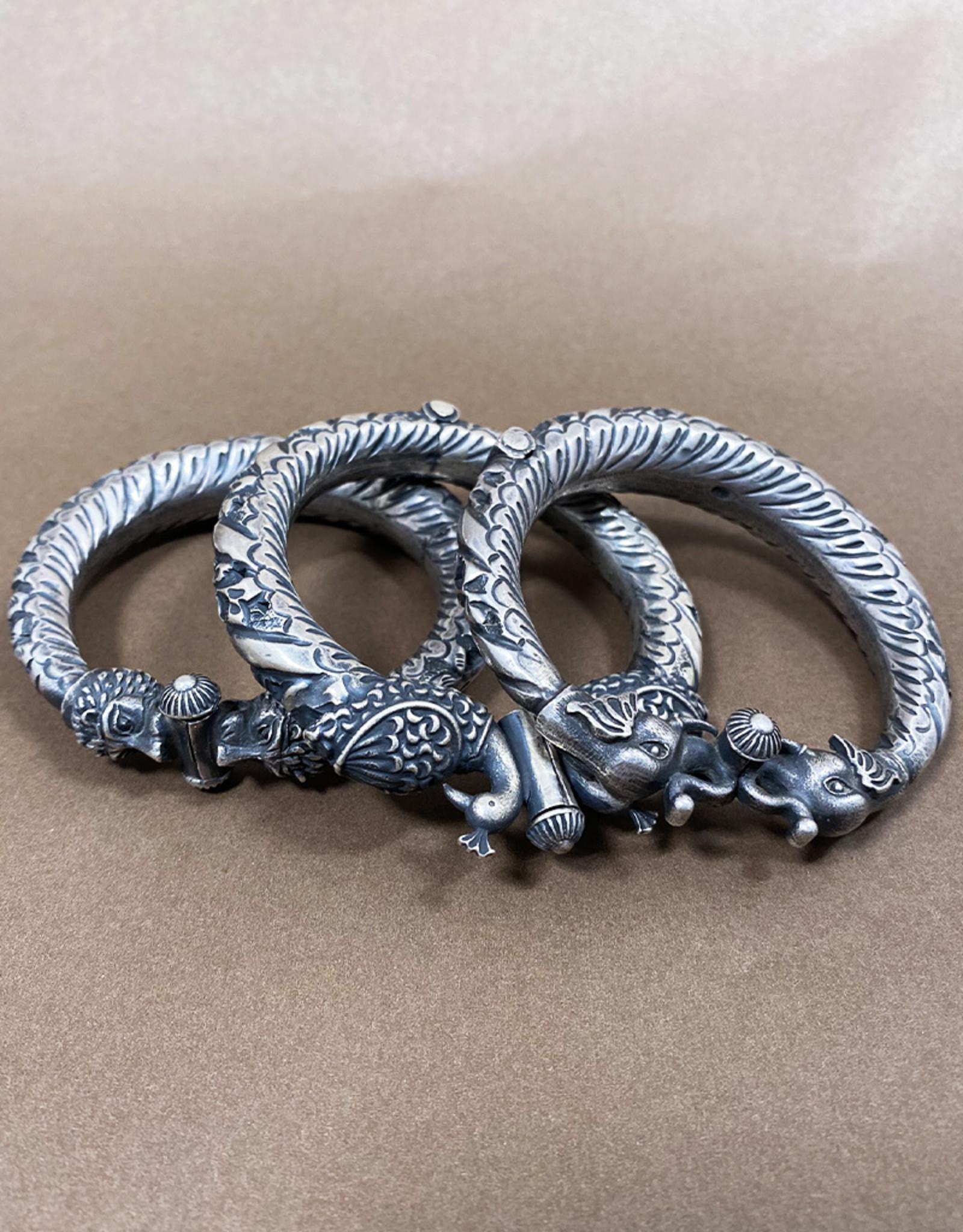 Jaipur Silver Lion Bangle