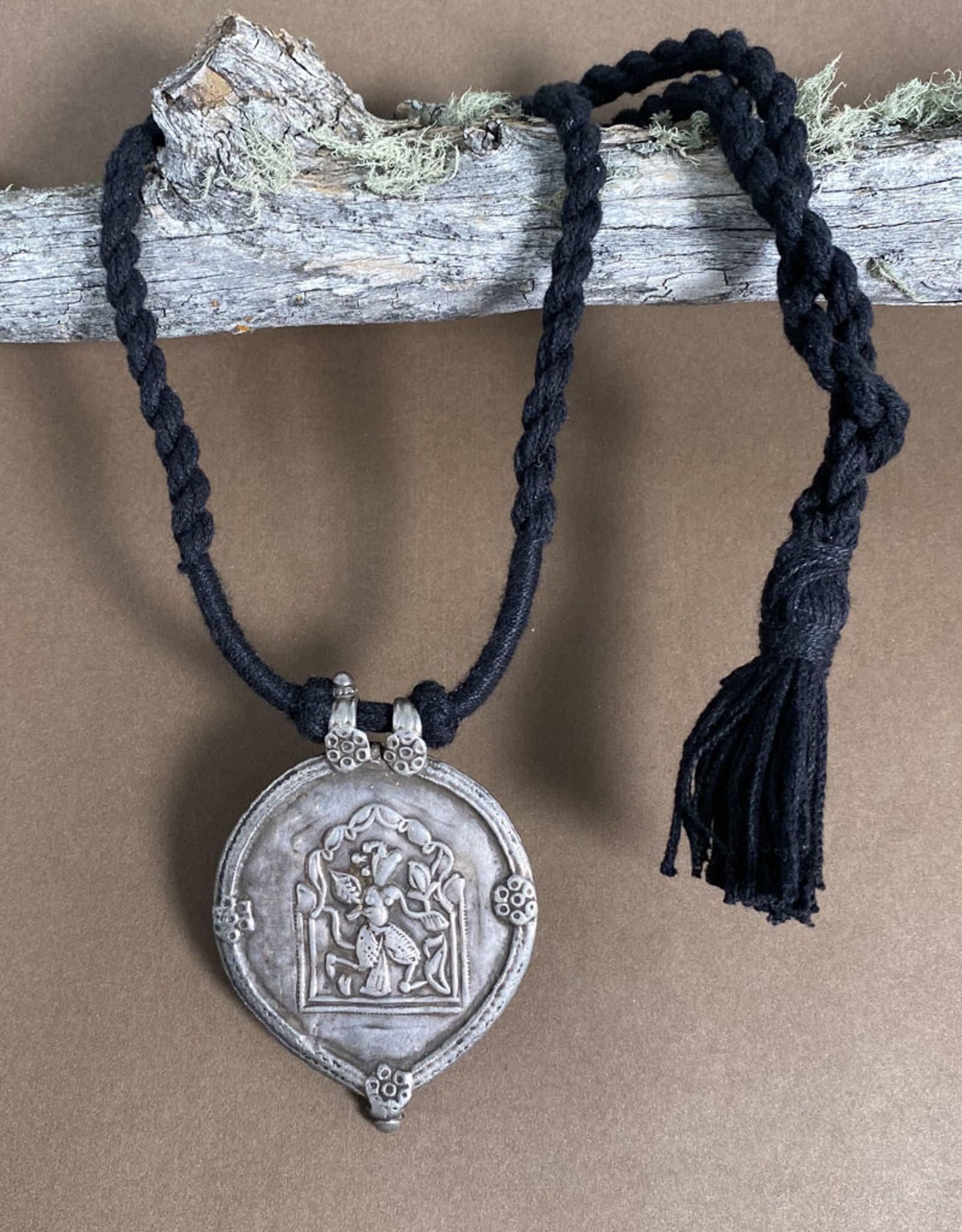 Jaipur Silver Durga Amulet II