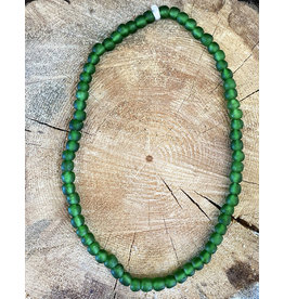 Cedi Handmade Transparent Bead Strand Green 1/2""