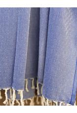 Comptoir Diamond Tassel Towel Cobalt