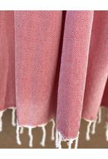 Comptoir Diamond Tassel Towel Red