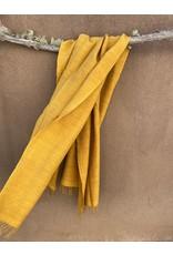 Haridra Handwoven Natural Dye Matka Silk Scarf Turmeric