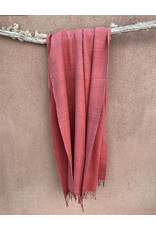 Haridra Handwoven Natural Dye Matka Silk Scarf Terracotta