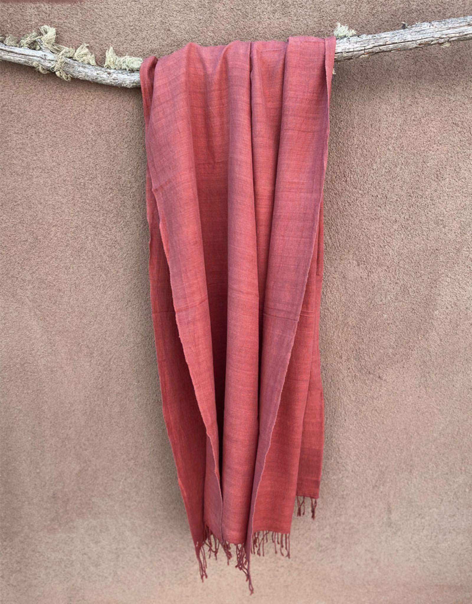 Haridra Matka Silk Scarf Terracotta