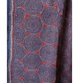 SHE Saumya Shawl Eternity Rust and Navy