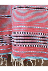 Comptoir de L'artisanat Berber Striped Fouta Red and Grey