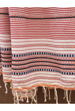 Comptoir de L'artisanat Berber Striped Fouta Red and White