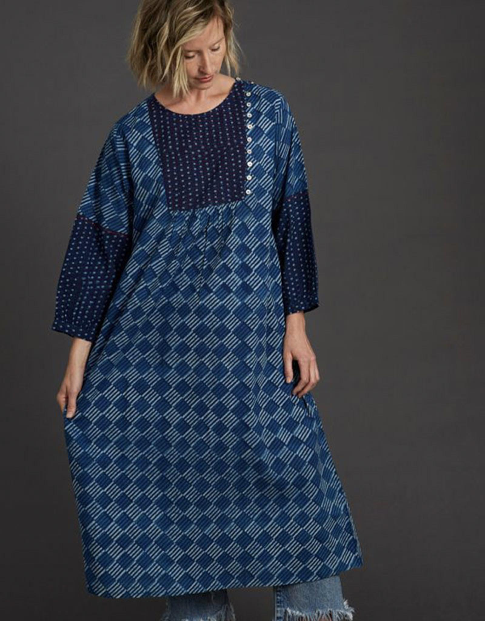 Dharan Indigo Tile Dress
