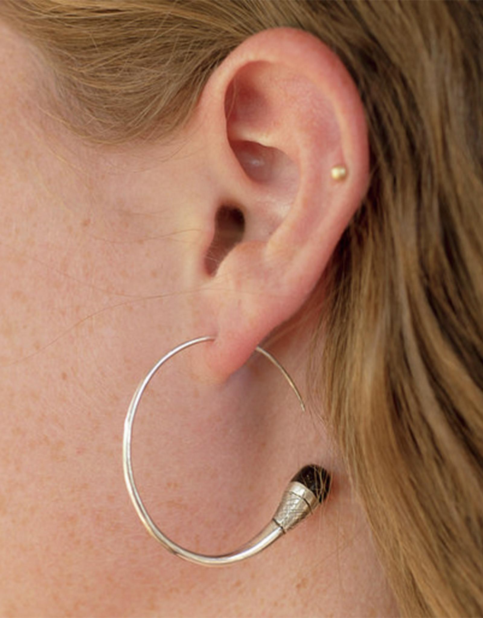 Timidwa Lalla Ebony Hoop Earrings
