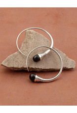 Timidwa Lalla Ebony Hoop Earrings