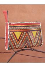Timidwa Tuareg Leather Zipper Pouch