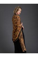 Dwaraka Hand Painted Silk Chiffon Shawl Marigold