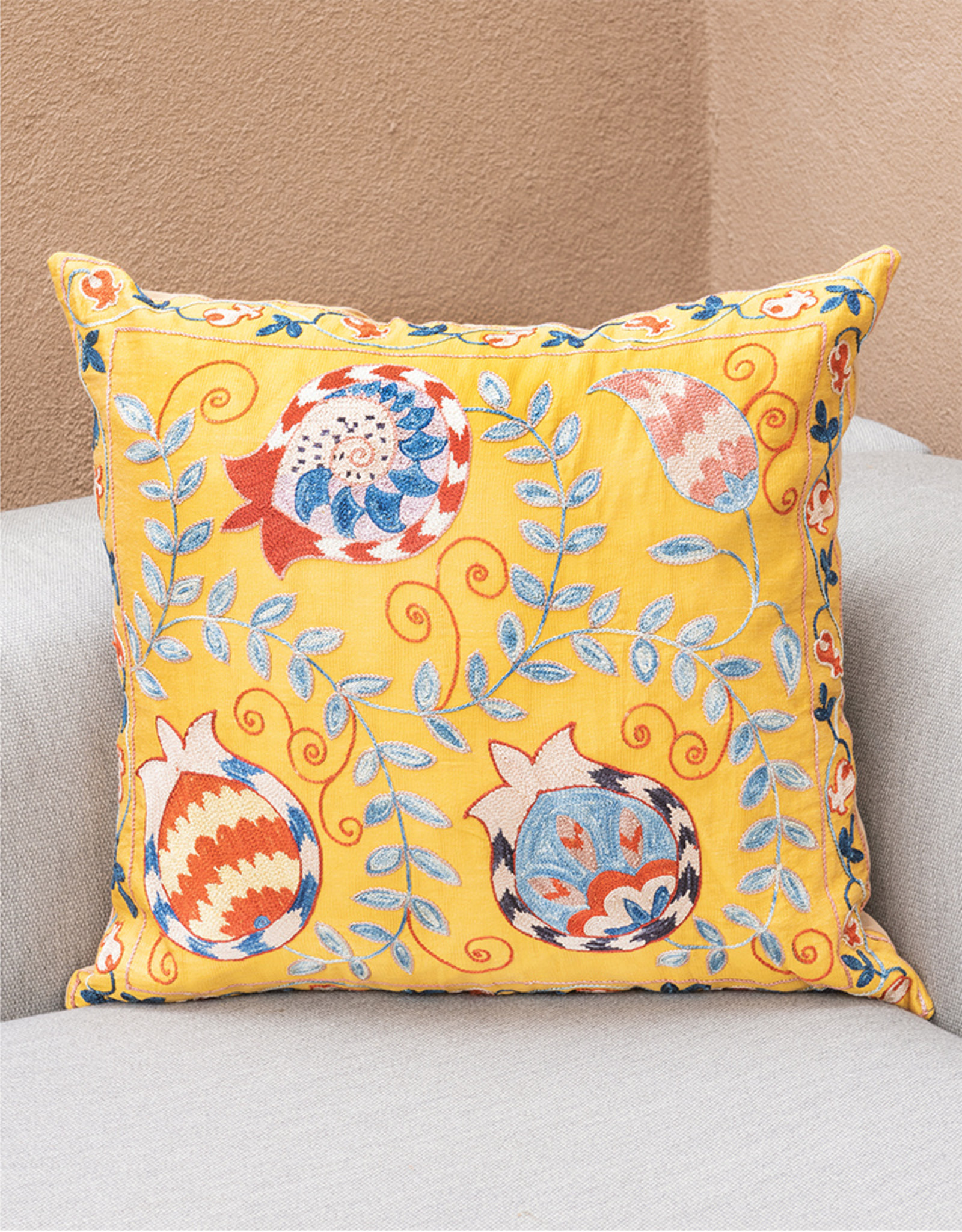 Nazarov Family Pomegranate Pillow Marigold