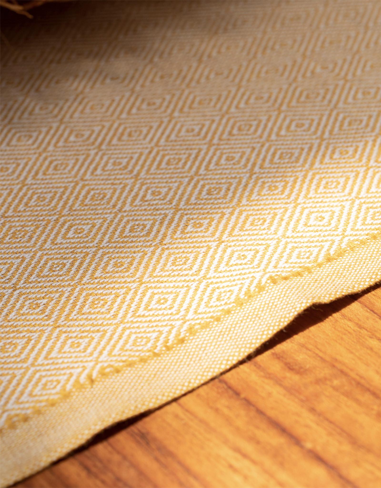 Comptoir Diamond Tassel Towel Mustard